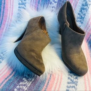 Merona tan faux suede Booties Sz 9.5